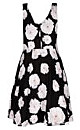 Photo Floral Printed Fit & Flare Dress