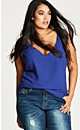 Royal Blue Simple Double Layer Chiffon Camisole