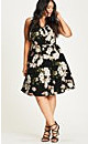 Pretty Floral Printed Fit & Flare Dress
