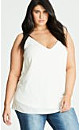 Ivory Simple Double Layer Chiffon Camisole