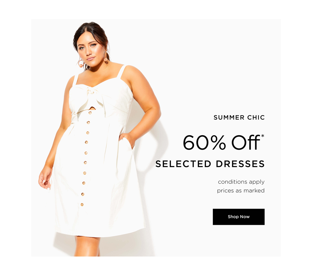 60% off* Selected Dresses